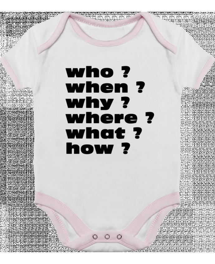 Body Bébé Contrasté Questions par Les Caprices de Filles