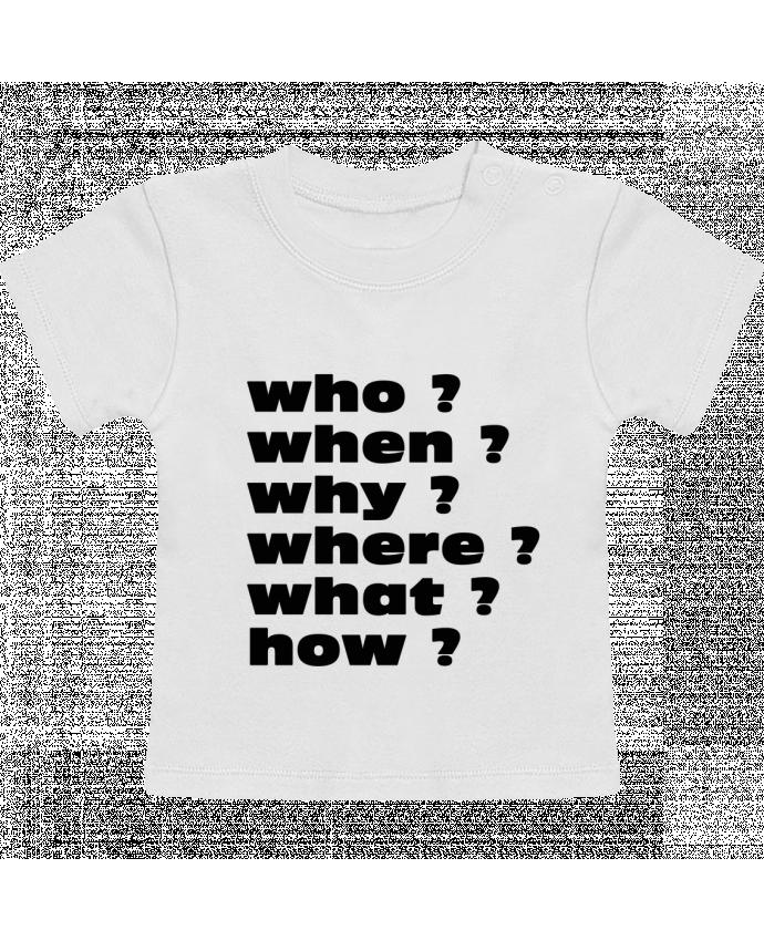 T-Shirt Bébé Manches Courtes Questions manches courtes du designer Les Caprices de Filles