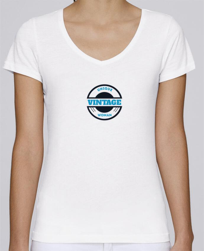T-shirt Femme Col V Stella Chooses Unique vintage woman par Les Caprices de Filles