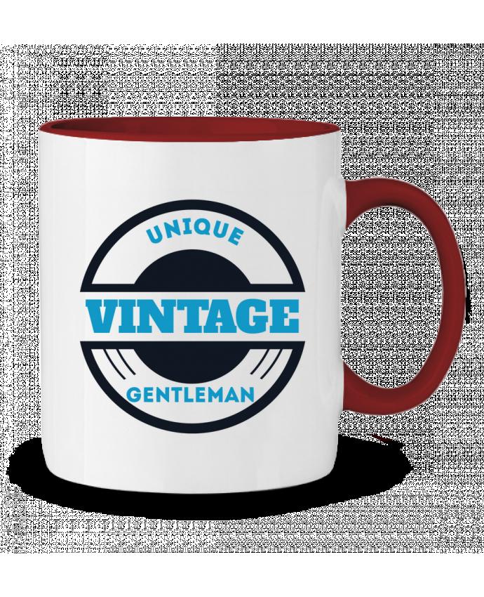 Mug en Céramique Bicolore Unique vintage gentleman Les Caprices de Filles