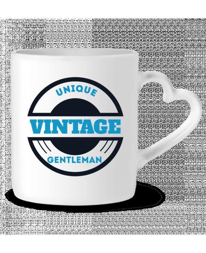 Mug Coeur Unique vintage gentleman par Les Caprices de Filles