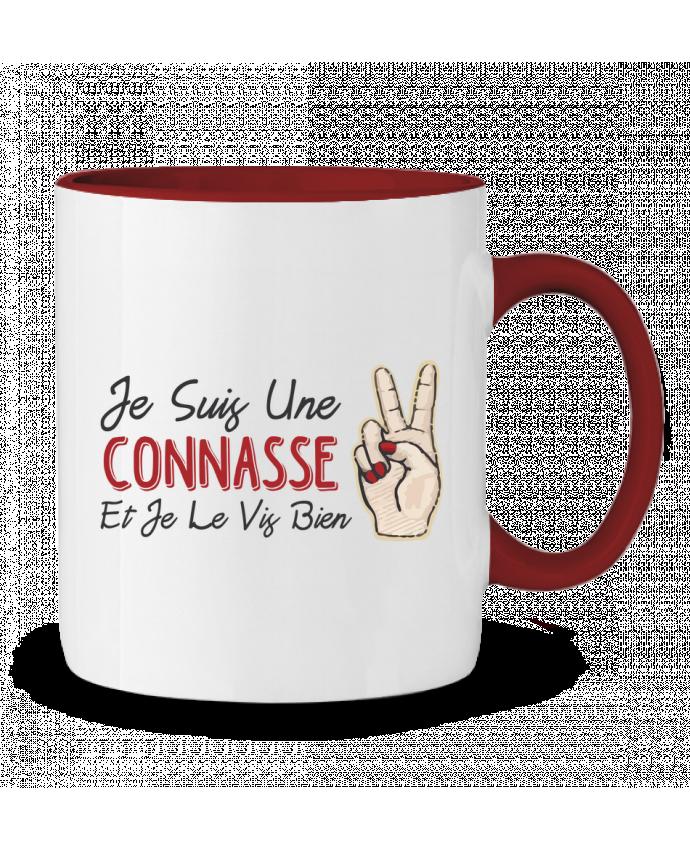 Mug en Céramique Bicolore Je suis une connasse et je le vis bien tunetoo