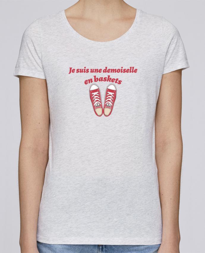 T-shirt Femme Stella Loves Je suis une demoiselle en baskets par tunetoo