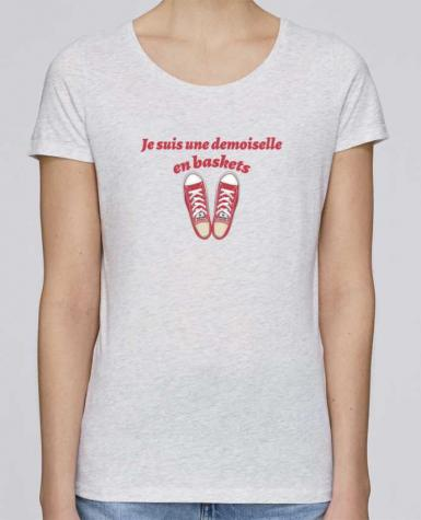 T-shirt Femme Stella Loves Je suis une demoiselle en baskets par tunetoo