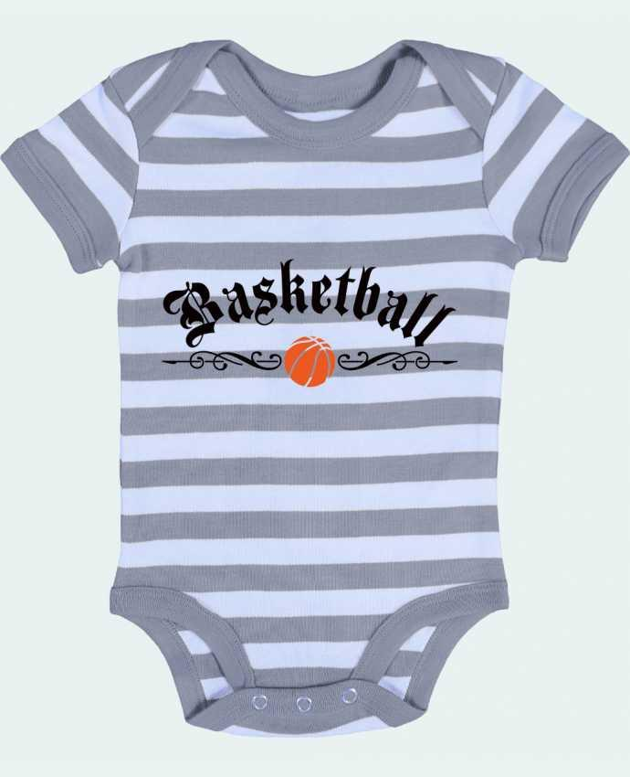 Body Bébé à Rayures Basketball - Freeyourshirt.com