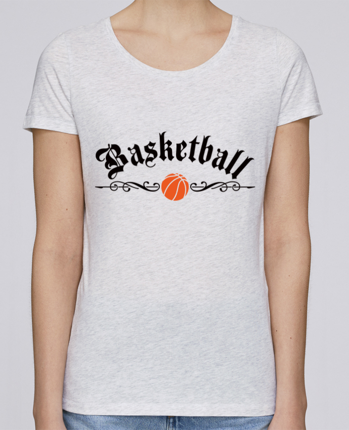 T-shirt Femme Stella Loves Basketball par Freeyourshirt.com