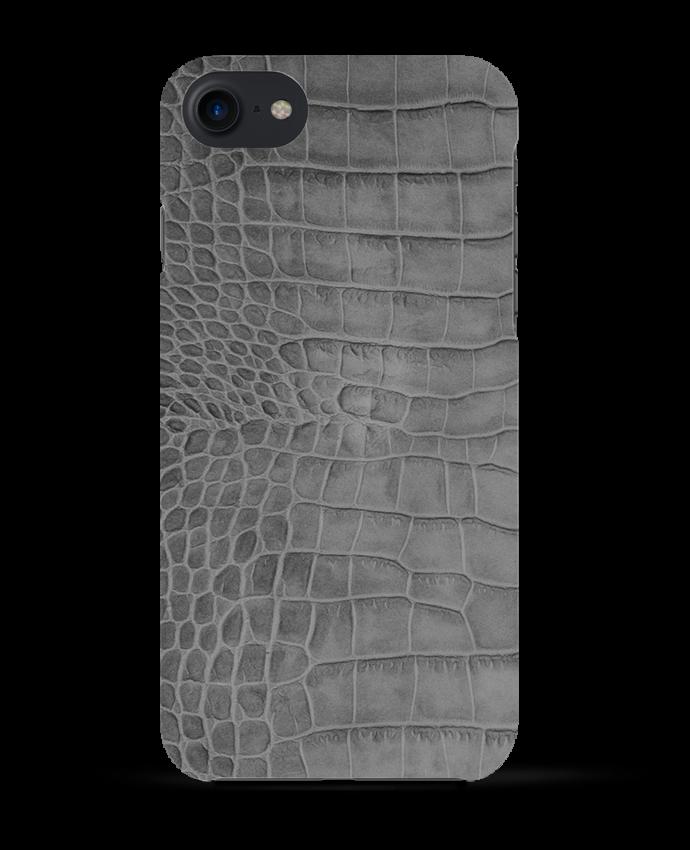 Coque 3D Iphone 7 Croco gris de Les Caprices de Filles