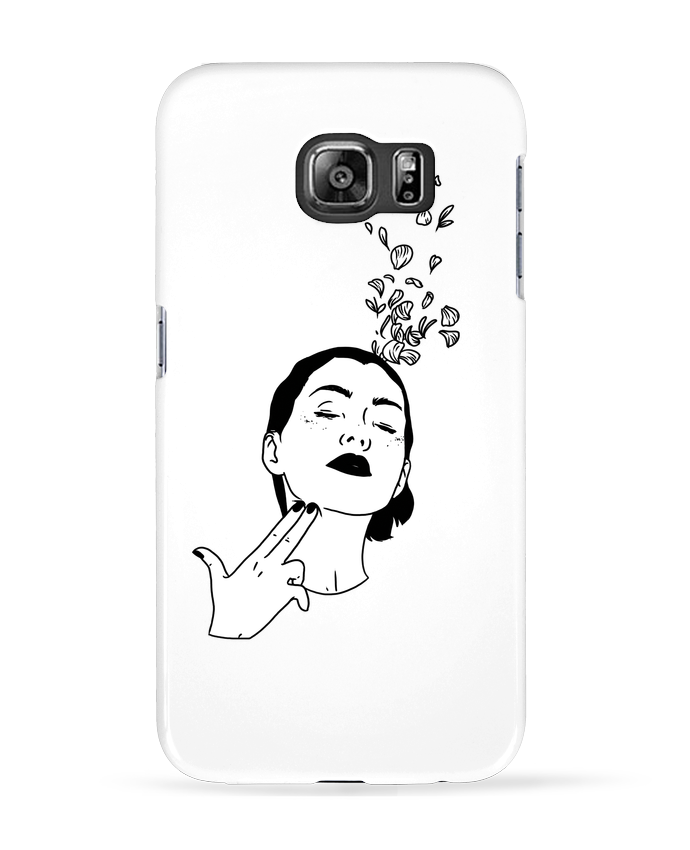 Coque 3D Samsung Galaxy S6 Flower suicide - tattooanshort