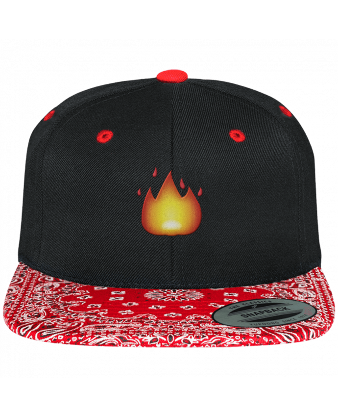 Casquette Snapback Motif Fire by tunetoo par tunetoo