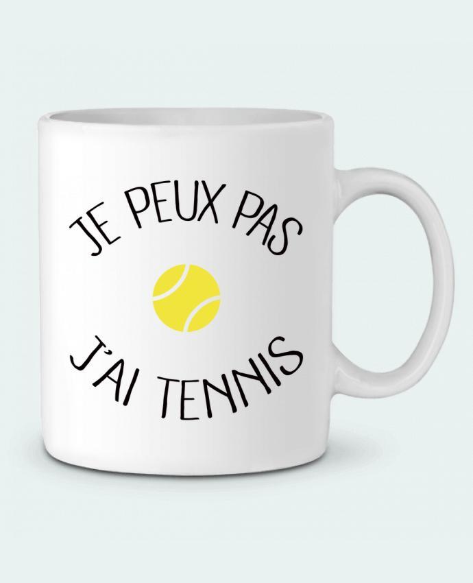 Mug en Céramique Je peux pas j'ai Tennis par Freeyourshirt.com