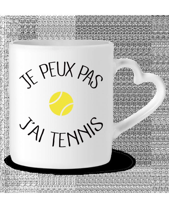 Mug Coeur Je peux pas j'ai Tennis par Freeyourshirt.com