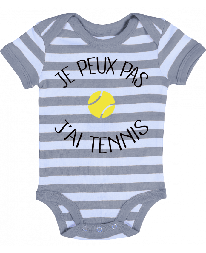 Body Bébé à Rayures Je peux pas j'ai Tennis - Freeyourshirt.com