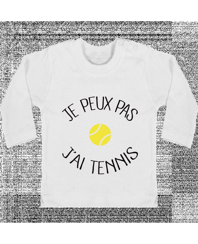 T-shirt Bébé Manches Longues Boutons Pression Je peux pas j'ai Tennis manches longues du designer Freeyourshirt.com