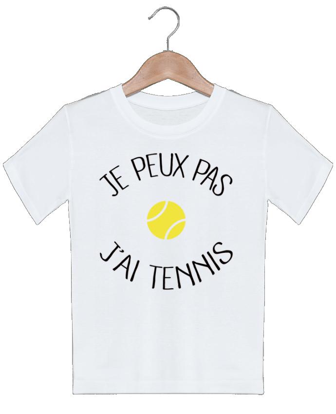 T-shirt garçon motif Je peux pas j'ai Tennis Freeyourshirt.com