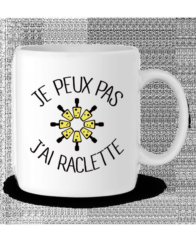 Mug en Céramique Je peux pas j'ai Raclette par Freeyourshirt.com