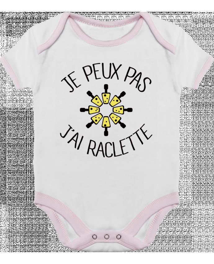 Body Bébé Contrasté Je peux pas j'ai Raclette par Freeyourshirt.com