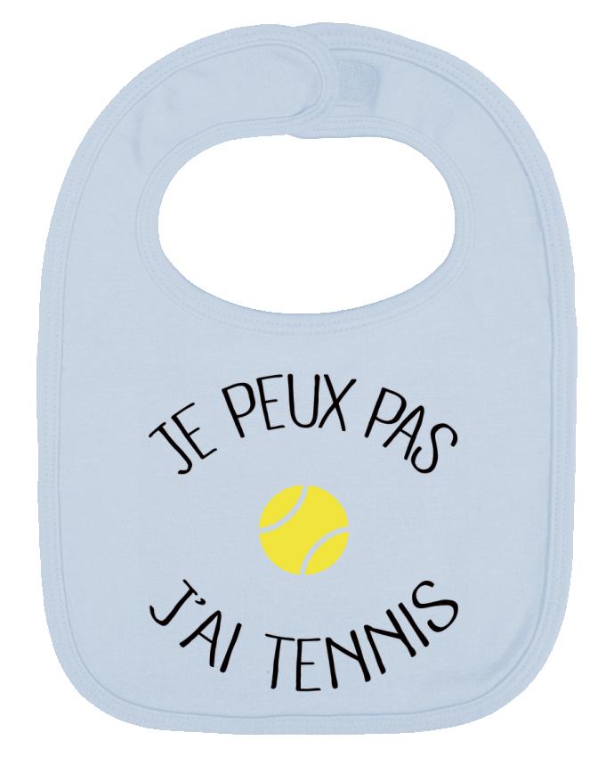 Bavoir Uni et Contrasté Je peux pas j'ai Tennis par Freeyourshirt.com
