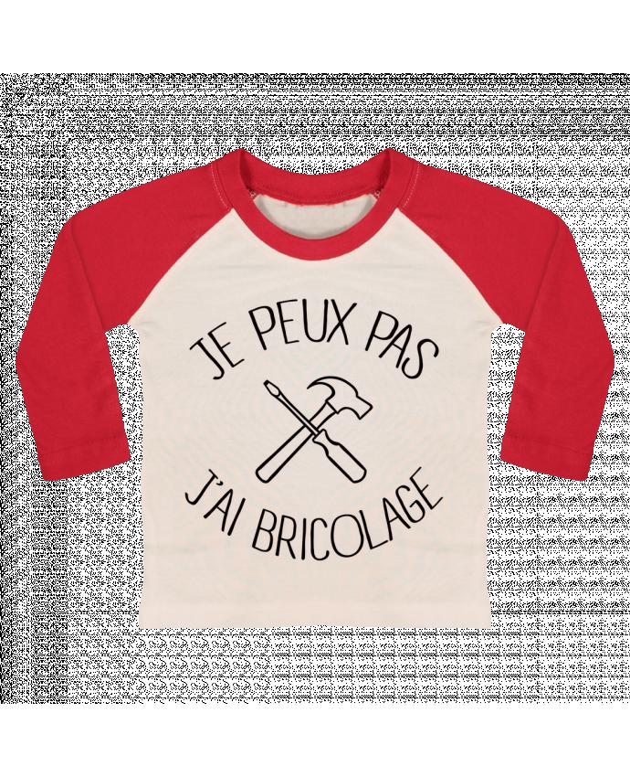 T-shirt Bébé Baseball Manches Longues Je peux pas j'ai Bricolage par Freeyourshirt.com