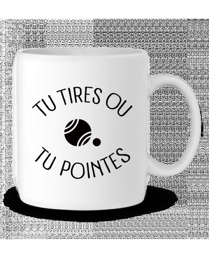 Mug en Céramique Tu Tires Ou Tu Pointes par Freeyourshirt.com