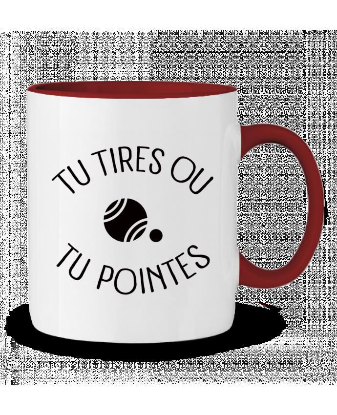 Mug en Céramique Bicolore Tu Tires Ou Tu Pointes Freeyourshirt.com