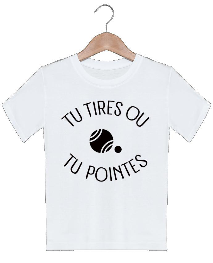 T-shirt garçon motif Tu Tires Ou Tu Pointes Freeyourshirt.com