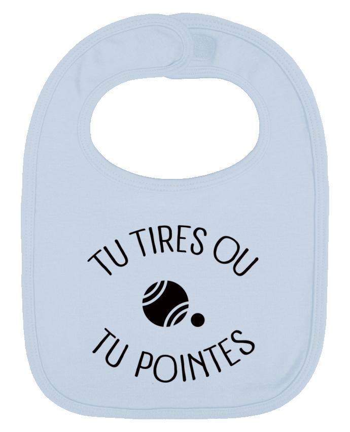 Bavoir Uni et Contrasté Tu Tires Ou Tu Pointes par Freeyourshirt.com