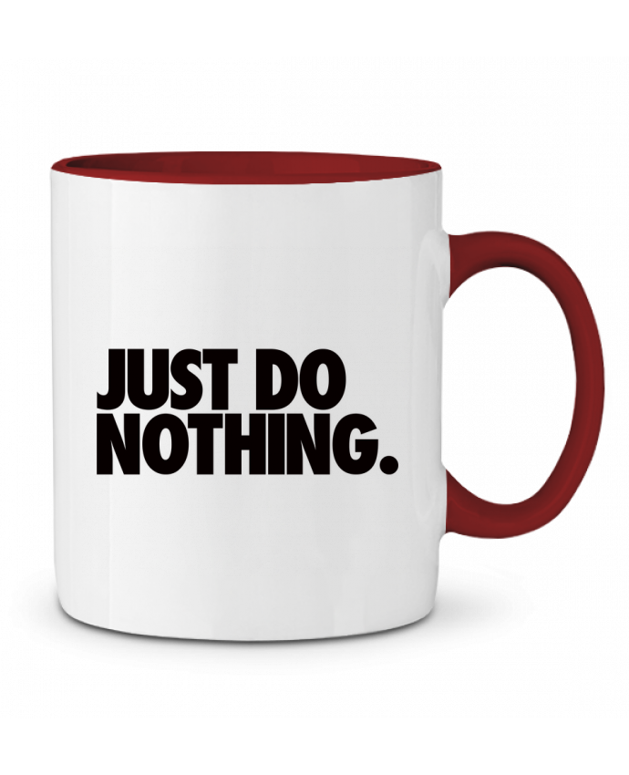 Mug en Céramique Bicolore Just Do Nothing Freeyourshirt.com