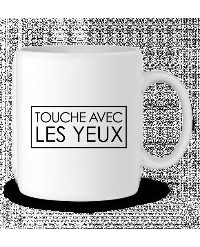 Mug  Touche avec les yeux par Freeyourshirt.com