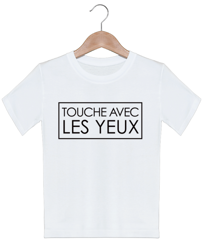 T-shirt garçon motif Touche avec les yeux Freeyourshirt.com