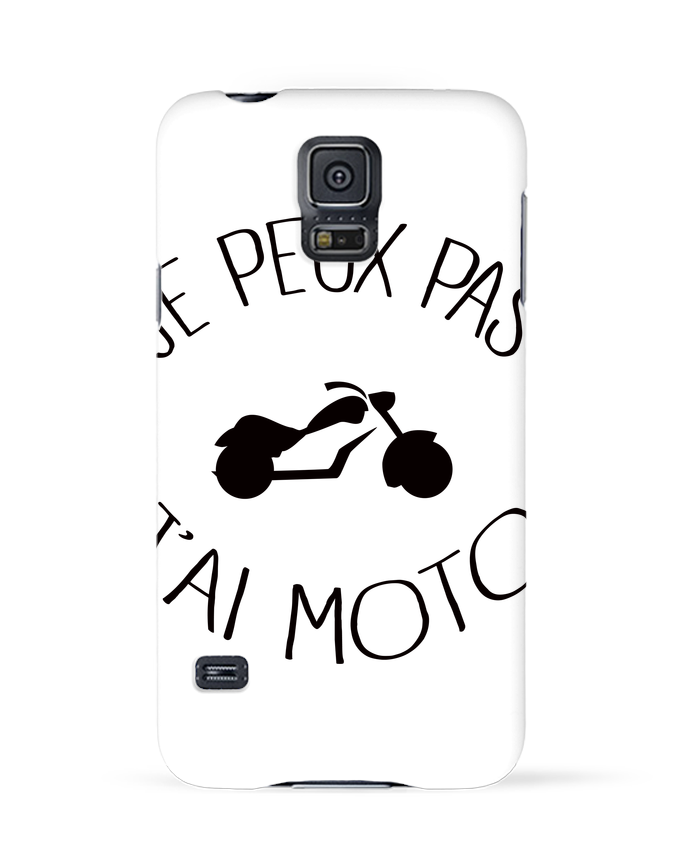 Coque 3D Samsung Galaxy S5 Je Peux Pas J'ai Moto par Freeyourshirt.com