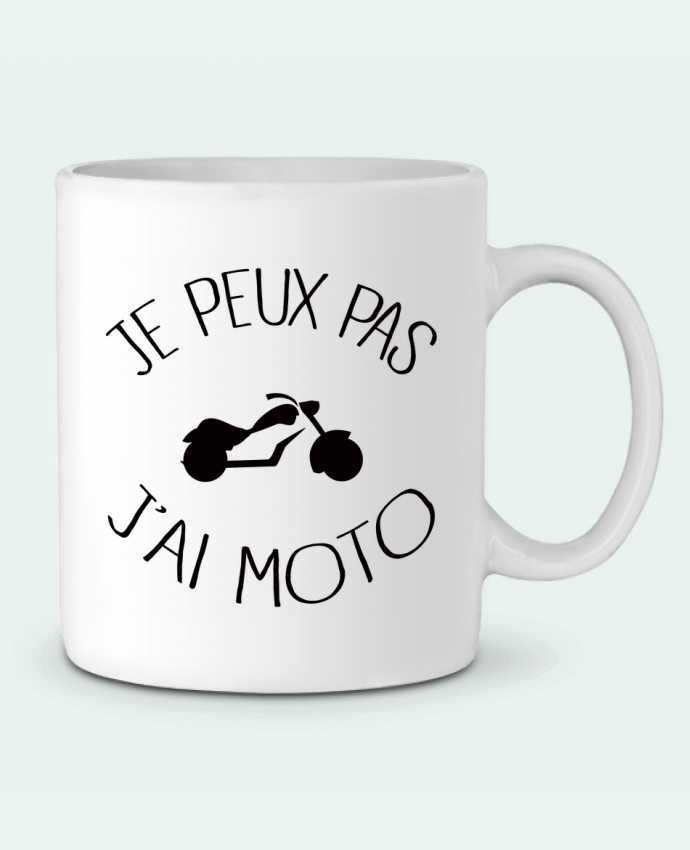 Mug en Céramique Je Peux Pas J'ai Moto par Freeyourshirt.com