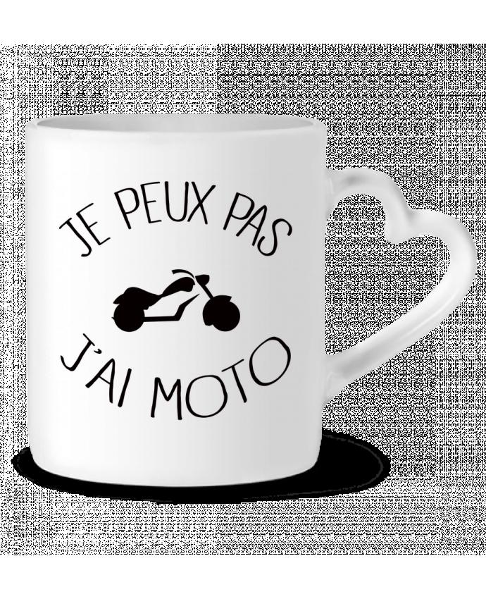 Mug Coeur Je Peux Pas J'ai Moto par Freeyourshirt.com