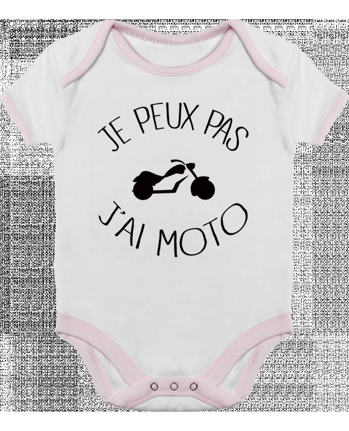 Body Bébé Contrasté Je Peux Pas J'ai Moto par Freeyourshirt.com