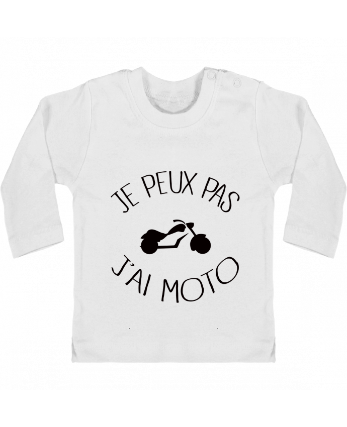 T-shirt Bébé Manches Longues Boutons Pression Je Peux Pas J'ai Moto manches longues du designer Freeyourshirt.com