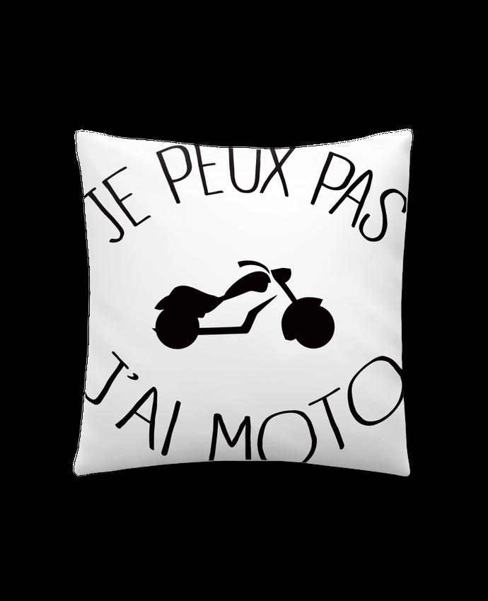 Coussin Synthétique Doux 41 x 41 cm Je Peux Pas J'ai Moto par Freeyourshirt.com