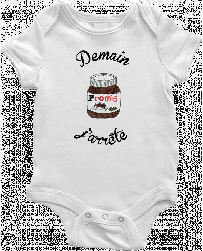Body Bébé Demain j'arrête le Nutella par Promis