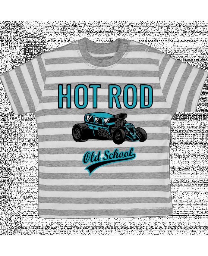 T-shirt Bébé à Rayures Hold school par David