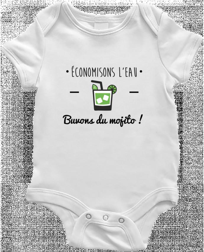 Body Bébé Économisons l'eau, buvons du mojito ! Humour , alcool , citations par Benichan