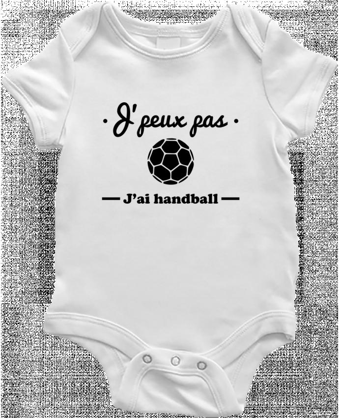 Body Bébé J'peux pas j'ai handball ,  tee shirt handball, hand par Benichan