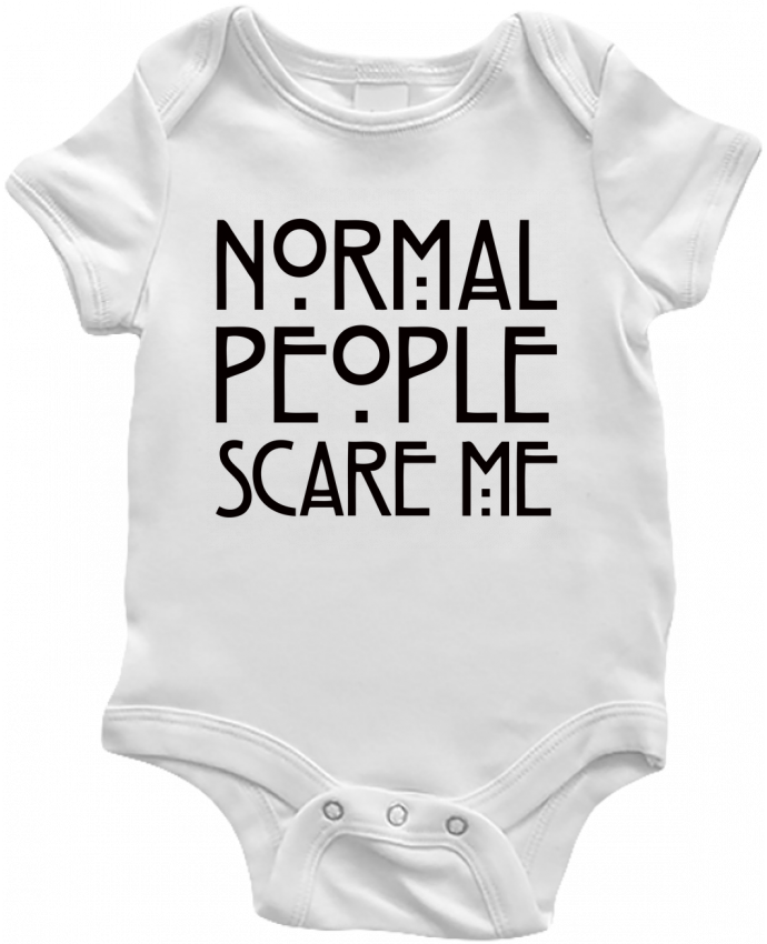 Body Bébé Normal People Scare Me par Freeyourshirt.com