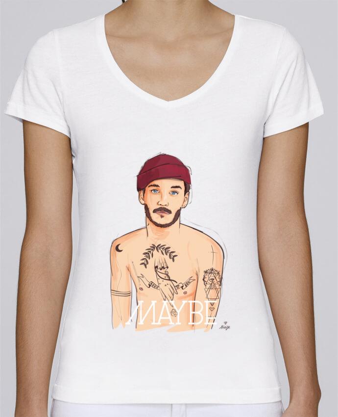 T-shirt Femme Col V Stella Chooses Maybe par 13octobre