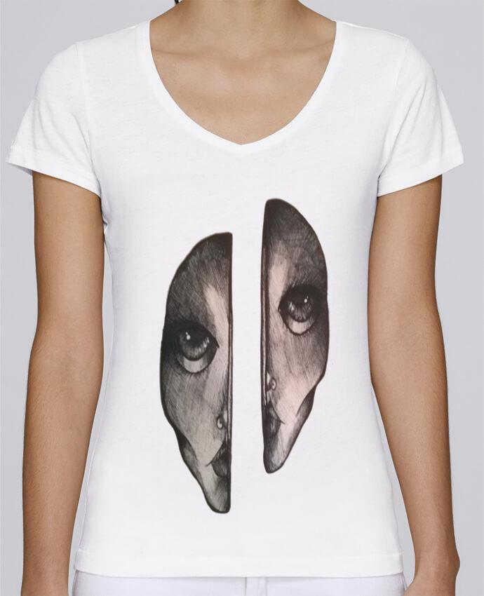 T-shirt Femme Col V Stella Chooses Headache par OhHelloGuys!