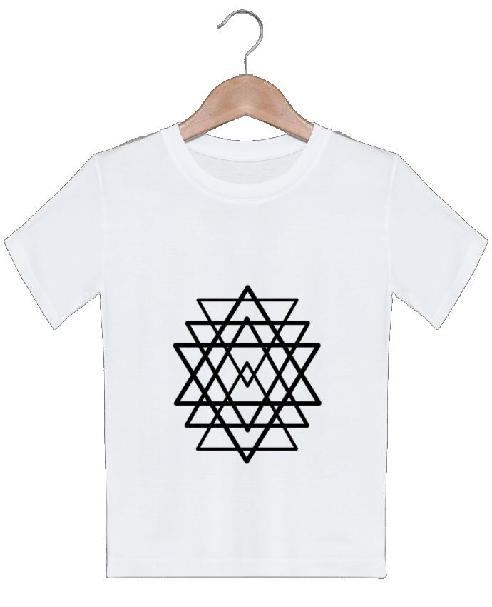 T Shirt Garcon Tatouage Geometrique Wolf Rider