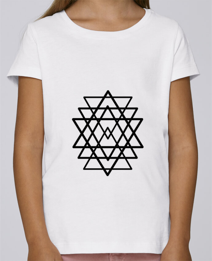T Shirt Fille Mini Stella Draws Tatouage Geometrique Wolf Rider