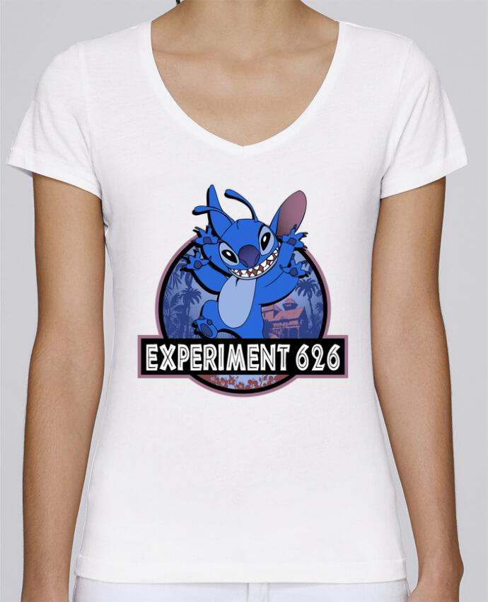 T-shirt Femme Col V Stella Chooses Experiment 626 par Kempo24