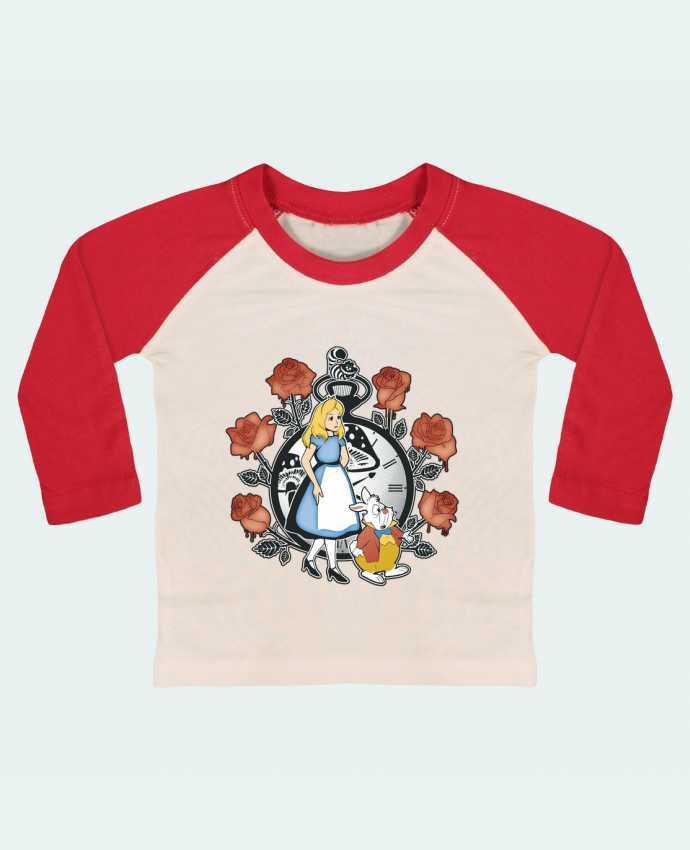 T-shirt Bébé Baseball Manches Longues Time for Wonderland par Kempo24