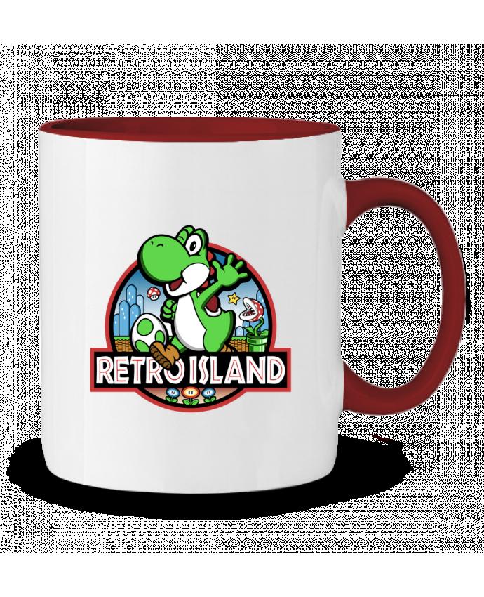 Mug en Céramique Bicolore Retro Park Kempo24