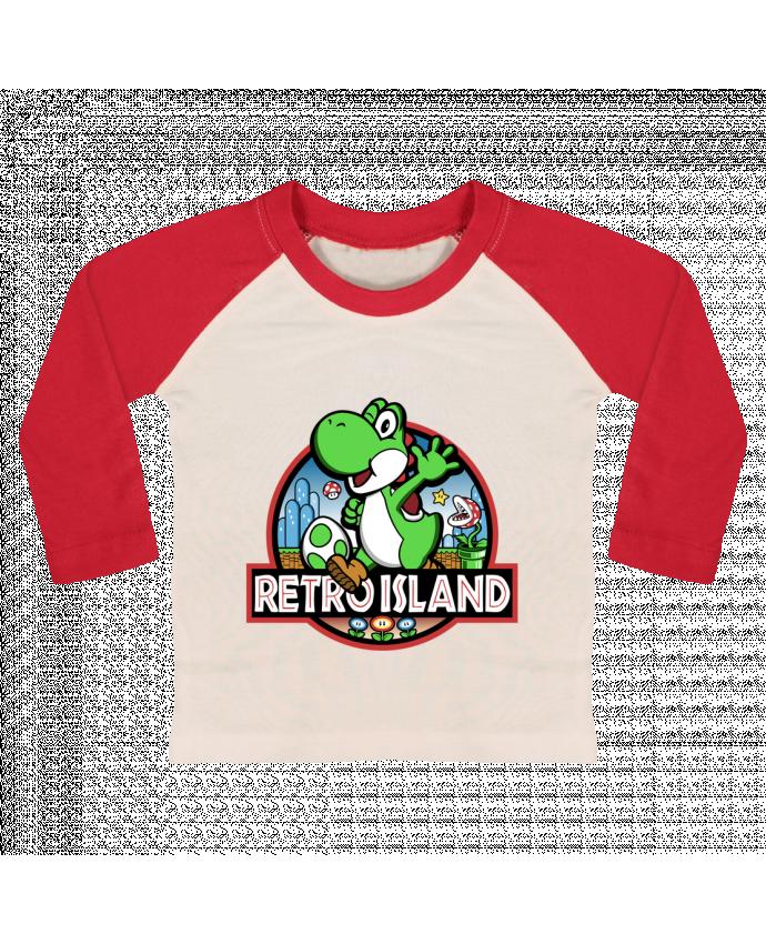 T-shirt Bébé Baseball Manches Longues Retro Park par Kempo24