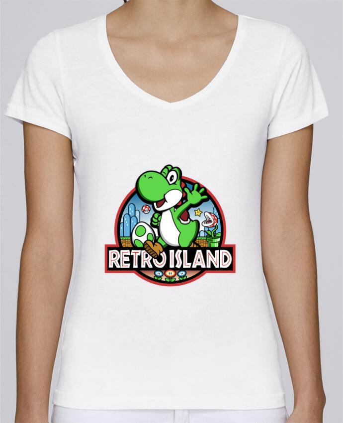 T-shirt Femme Col V Stella Chooses Retro Park par Kempo24
