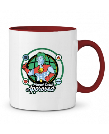 Mug en Céramique Bicolore Planet Earth Approved Kempo24